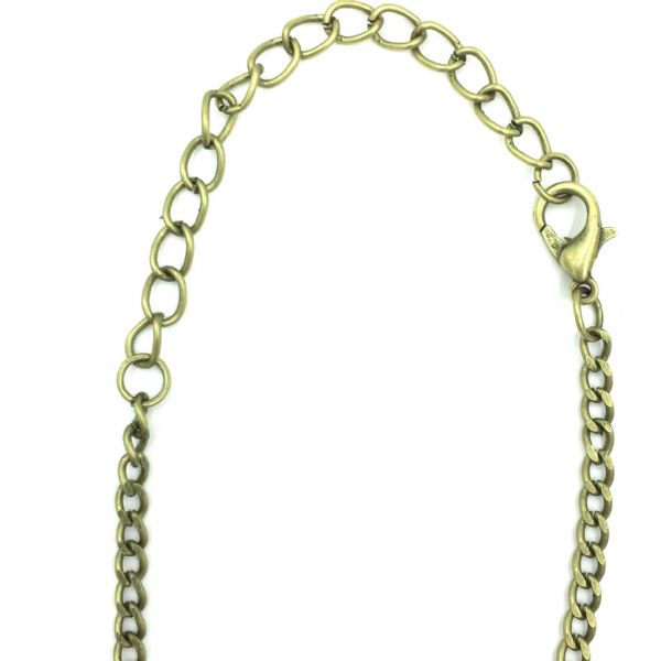 Ready made curb chain 3mm x 5mm 31.5 inches - antique brass